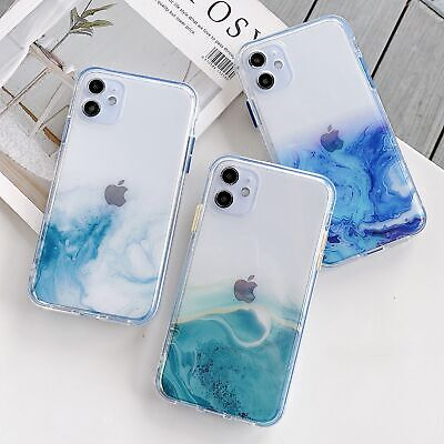 AU8.99 • Buy Glitter Bling Cover IPhone 12 Mini Pro Max 11 XR XS Clear Marble Shockproof Case