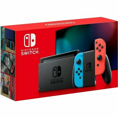 AU449 • Buy Genuine Nintendo Switch Neon Joy-Con Console New 2020 Model BRAND NEW AU Model