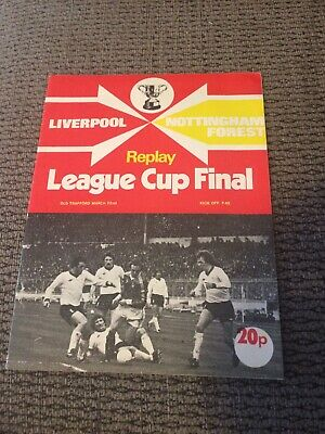 Liverpool V Nottingham Forest, League Cup Final Replay 1978 Programme. • 1.65£