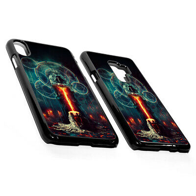 £3.99 • Buy Gothic Mystery Symbol Dark Knight Woman Fire Sword Plastic Phone Case Cover