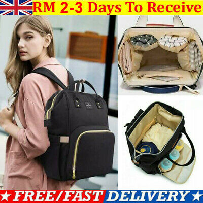Baby Mummy Bag Changing Diaper Nappy Bag Travel Backpack Large Multi-Function UK • 9.99£