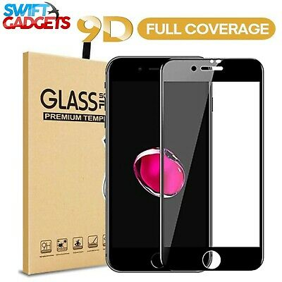 9D Full Cover Tempered Glass Screen Protector For Apple IPhone 6 6S 7 8 7 8 PLUS • 1.99£