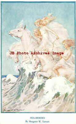 Margaret Tarrant, Medici Society No 195, Fairies On Sea Horses • 15.33£