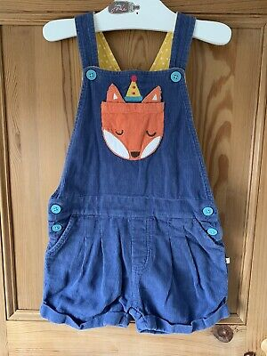 Frugi Fox Dungaree Shorts Age 3-4 Years • 16.50£