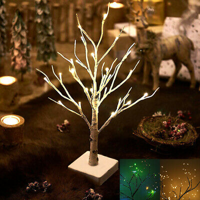 55cm 108LED Easter Xmas Tree Lights Twig Birch Tree Light White Table Lamp Decor • 9.99£