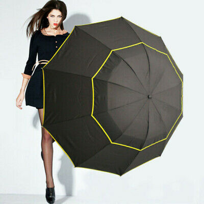 AU28.58 • Buy 27  Large Compact Golf Umbrella Extra Oversize Double Canopy Vented Windproof