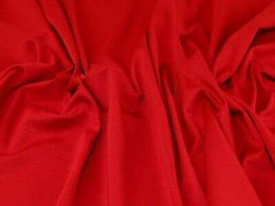 £5.99 • Buy Ponte Roma Double Knit Fabric Red - Per Metre