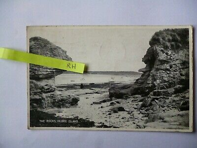 The Rocks Hilbre Island Cheshire Postcard Vintage • 1£