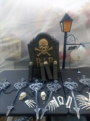 $ CDN32.20 • Buy Lawn Skeleton  Animated Headstone Decoration, Halloween Props And Decorations