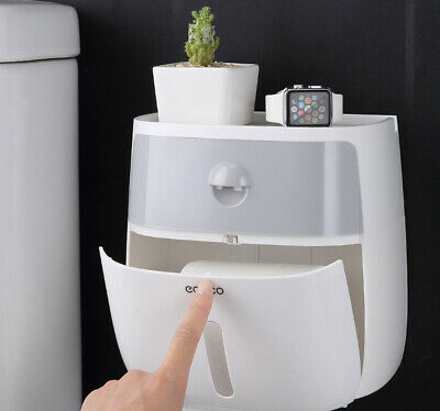 AU21.99 • Buy Toilet Paper Roll Holder Wall Mounted Roll Paper Stand For Bathroom Accessories