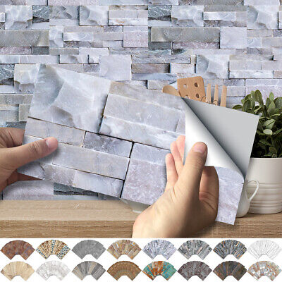 Kitchen Bathroom Tile Stickers 3D Self-adhesive Mosaic Wall Decal Sticker Decor • 5.99£