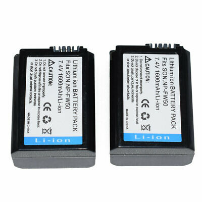 2X NP-FW50 Replacement Battery For Sony NEX-3C NEX-5 Alpha A7 II A7R A7S A5100 • 12.21£