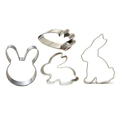 Rabbit Cookie Cutter Carrot Easter Bunny Cake Biscuits Sandwich Cutter Pastry • 2.99£