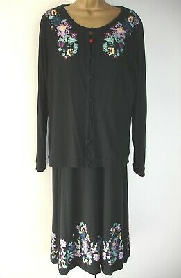 JOE BROWNS Black Jersey Dress And Jacket - Size 14 - NEW • 8.99£