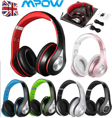 Mpow 059 Over-Ear Bluetooth Headphones Noise Cancelling Hi-Fi Stereo Headset Mic • 30.89£