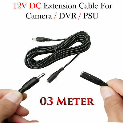 3 Meter DC Power Supply Extension Cable 12V Lead For CCTV Camera/DVR/PSU • 3.10£