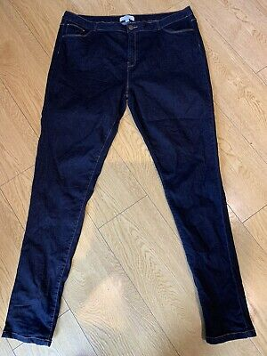 Dorothy Perkins Tall Dark Blue Denim Skinny Jeans Size 22 Ex Condition  • 3.99£