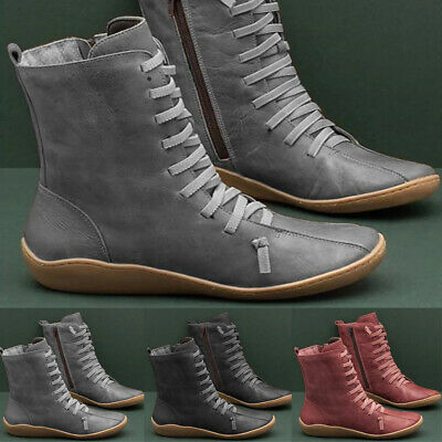 Women Shoes Arch Support Ankle Boots Casual Flat Comfort 3 Colors Fashion • 16.25£