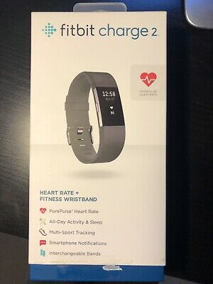 AU15.50 • Buy Fitbit Charge 2 Heart Rate Black Activity Tracker