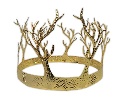 £10.90 • Buy Medieval Gold Adult Crown Tree Branches King Queen Evil Witch Costume Accessory