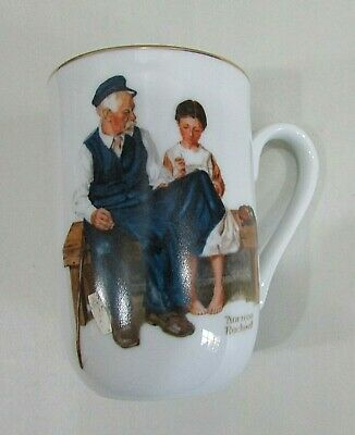 $ CDN16.32 • Buy Old 1982 The Lighthouse Keeper's Daughter Norman Rockwell Museum Mug Cup FREE SH