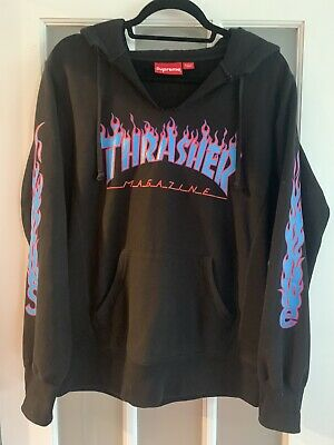$ CDN159.06 • Buy (Ultra Rare VTG) SUPREME THRASHER HOODED SWEATSHIRT Hoodie  Black Small