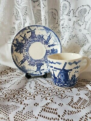 $24 • Buy Set Of 3 Royal Sphinx Maastricht Windmills Porcelain Cup&Saucer. Made In Holland