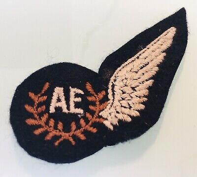 Vintage RAF Royal Air Force Air Electronics (AE) Brevet Cloth Patch - Badge • 8.99£