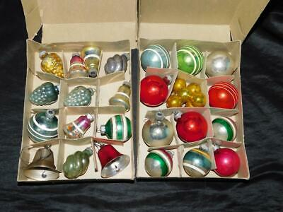 $ CDN20.47 • Buy Vintage Lot 30 Christmas Ornaments Shiny Brite Coby Glass Bells Balls Grapes Mix