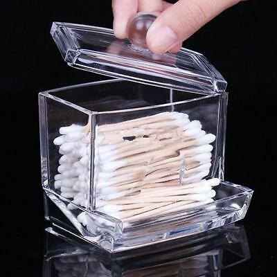 $ CDN4.71 • Buy Clear Q-tip Holder Box Cotton Swabs Stick Storage Cosmetic Makeup Case DM