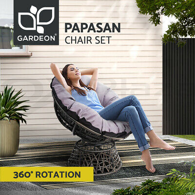 AU179.90 • Buy Gardeon Outdoor Lounge Setting Furniture Papasan Chairs Wicker Patio Garden Sofa
