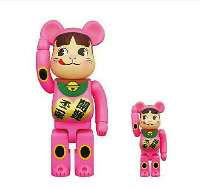 $370 • Buy Be@rbrick Medicom Fujiya Limited 2020 Peko-Chan Lucky Cat Pink 100% 400%