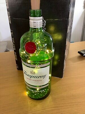 Tanqueray Gin Bottle With Lights On Copper Wire • 5£