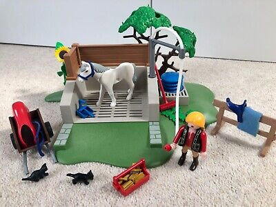 Playmobil 4193 - Horse Washing Station. Good Condition. Used. • 3.20£