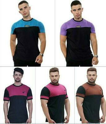 Mens Crewneck Slimfit Cotton Tshirt|Casual Tee Top Vest For Workout Gym Football • 7.95£