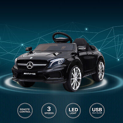 Electric Ride On Car 12V Kids Licensed MERCEDES BENZ Remote Control Motors Black • 103.99£