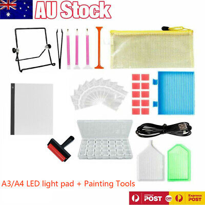 AU17.99 • Buy 5D Diamond Painting Tools DIY Art Craft + LED Pad Light Board With Stand Holder