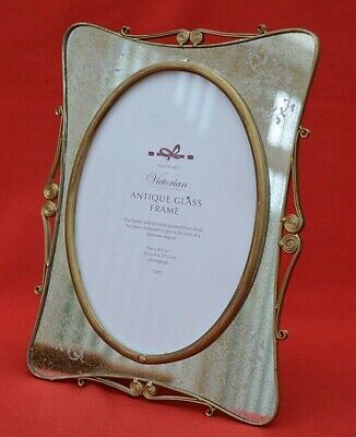Past Times:  Large Victorian Antique Glass Photo Frame - Boxed Condition!  • 18.50£