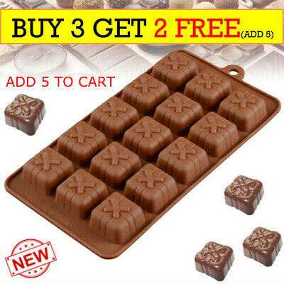 3d Silicone Mold Christmas Gift Box Present Mould Soap Wax Melt Chocolate R3UK • 2.99£