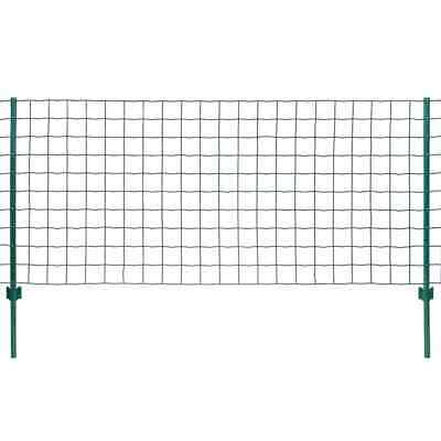 VidaXL Euro Fence Set 20x1.5m Steel Green Outdoor Garden Patio Wire Mesh Panel • 156.99£