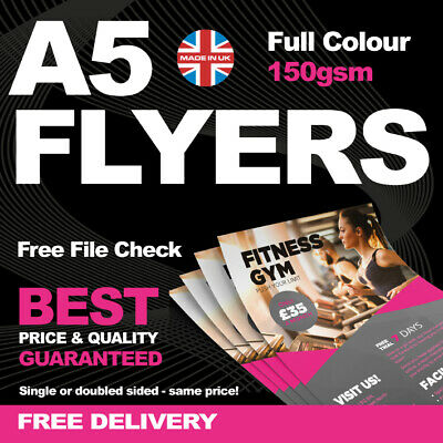 £109 • Buy A5 FLYERS / LEAFLETS - 150gsm - High Quality - Double Sided - Full Colour