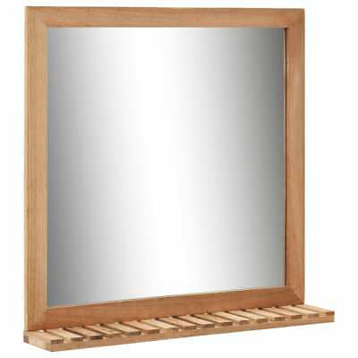 VidaXL Solid Walnut Wood Bathroom Mirror 60x12x62cm Makeup Cosmetic Mirror • 25.99£