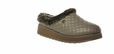 Bobs By Skechers Womens Peek Bluff Taupe Mule Slippers Size 6.5 (1498790) • 14.05£