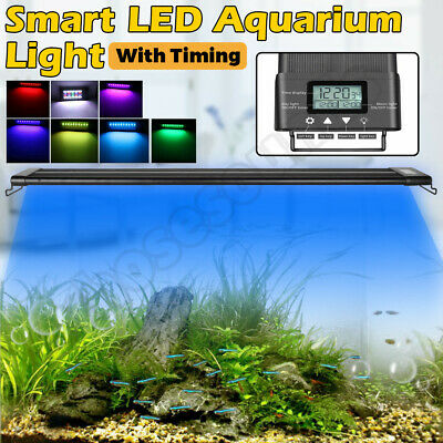 AU77.20 • Buy Aquarium LED Light 1ft /2ft /3ft /4ft Marine Aqua Fish Tank W/Timing 60-90-120CM