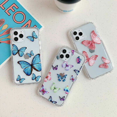 AU9.99 • Buy Shockproof Butterfly Clear Case IPhone 12 11 Pro Max XS XR 8 7 SE Phone Cover AU