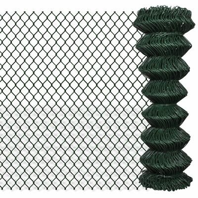 VidaXL Chain Fence 1.25x15m Green Garden Patio Wire Mesh Panel Fencing Barrier • 67.99£