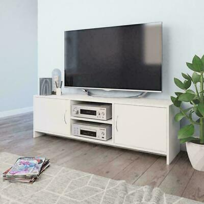 Modern TV Cabinet Unit Display Stand Chipboard White Storage Display Furniture • 141.64£