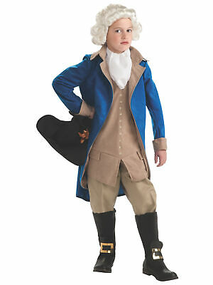 George Washington Founding Father US President Colonial French Boys Costume M • 26.97£