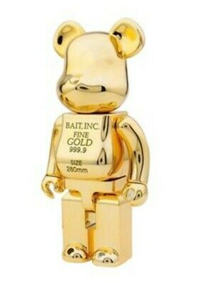 $750 • Buy Medicom BE@RBRICK BAIT Gold Bar 400% Bearbrick COMPLEX CON EXCLUSIVE