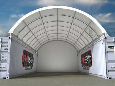 AU3350 • Buy NEW 40ft X 20ft Shipping Container Dome Shelter With End Wall ORP $5,953